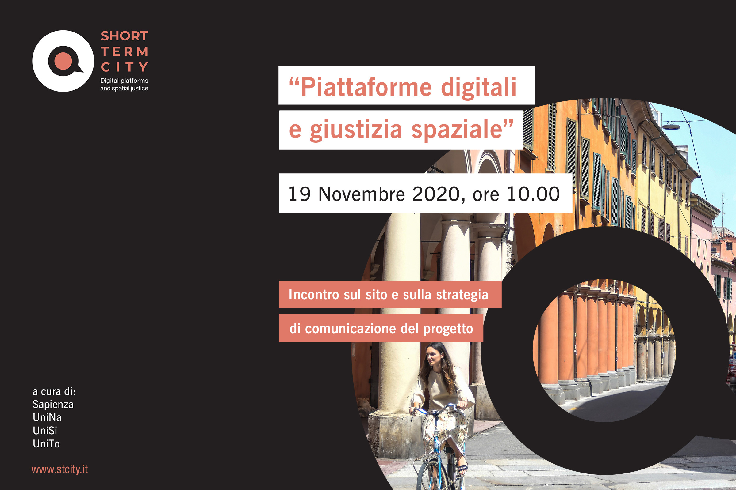 PRIN STCity | Project Meeting, 19 novembre 2020