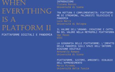 When Everything is a Platform II – Piattaforme e Pandemia