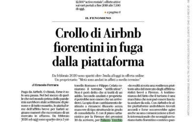 Crollo di Airbnb, fiorentini in fuga dalla Piattaforma. Intervista a Antonello Romano